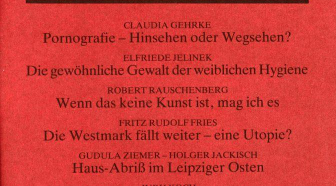 Zeitschrift Sondeur (1990-91) – Bibliographie & Editorials
